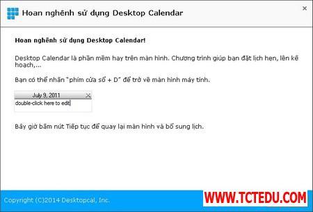 DesktopCal 2 d0859 DesktopCal   Tờ lịch đa dụng và hữu ích cần có trên Windows