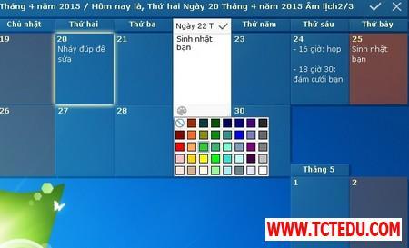 DesktopCal 3 d0859 DesktopCal   Tờ lịch đa dụng và hữu ích cần có trên Windows
