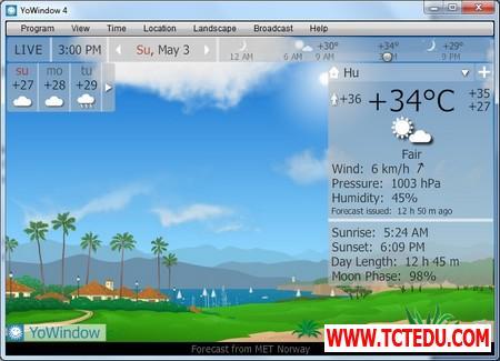 YoWindow 10 1d5fd Phần mềm chuyên nghiệp giúp theo dõi và dự báo thời tiết trên Windows