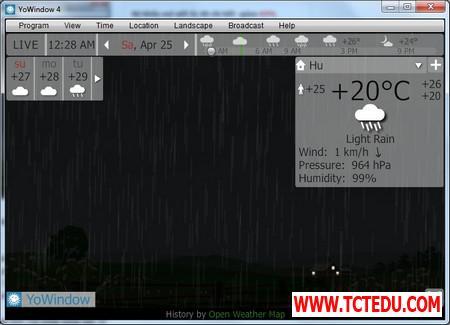 YoWindow 3 1d5fd Phần mềm chuyên nghiệp giúp theo dõi và dự báo thời tiết trên Windows