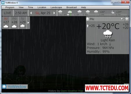 YoWindow 5 1d5fd Phần mềm chuyên nghiệp giúp theo dõi và dự báo thời tiết trên Windows