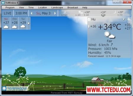 YoWindow 6 1d5fd Phần mềm chuyên nghiệp giúp theo dõi và dự báo thời tiết trên Windows
