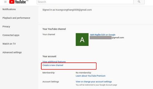 huong dan tao mot kenh phu tren youtube 1 Hướng dẫn tạo nhiều kênh phụ trên Youtube